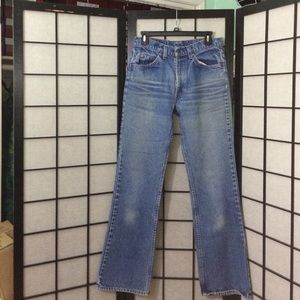 Beautifully Levi's flares, and patch patch flares