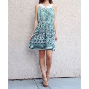 | new | green patterned dress