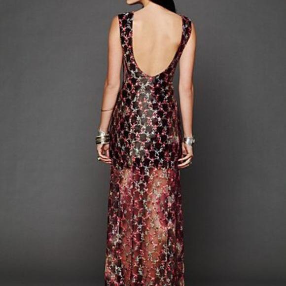 Lace column dress free people