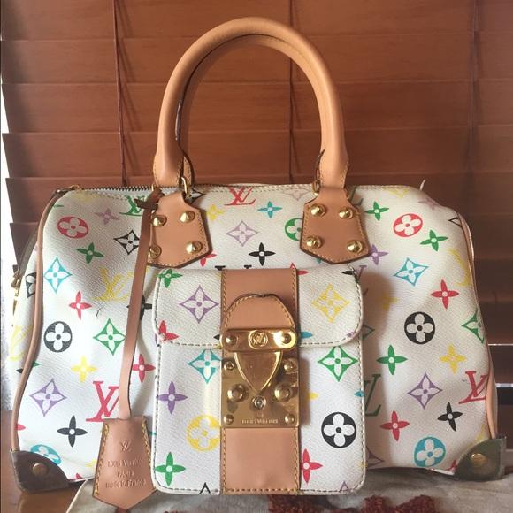e6d0d71ca914 Handbags - Faux Louis Vuitton Multicolor Speedy 30