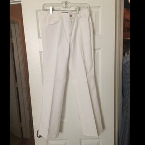 White Dana Buchman Denim Pants sz 4 NWT