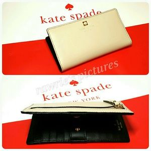 New Kate Spade beige and black wallet