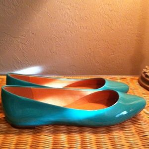 NEW Madewell Sidewalk Skimmer patent leather flats