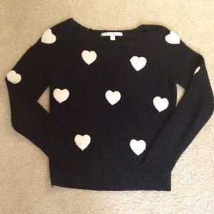 LC LAUREN CONRAD  Plush Heart Sweater