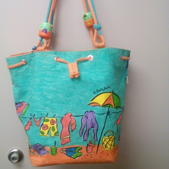 Sally Huss - Cute Sally Huss beach themed tote bag. from Tina's ...