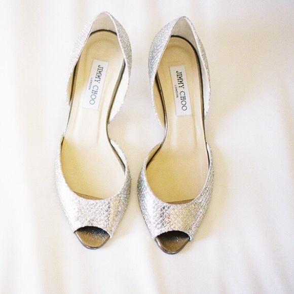 648146949a90 Jimmy Choo Shoes - Jimmy Choo Lyon Glittered d Orsay peep toe 38B