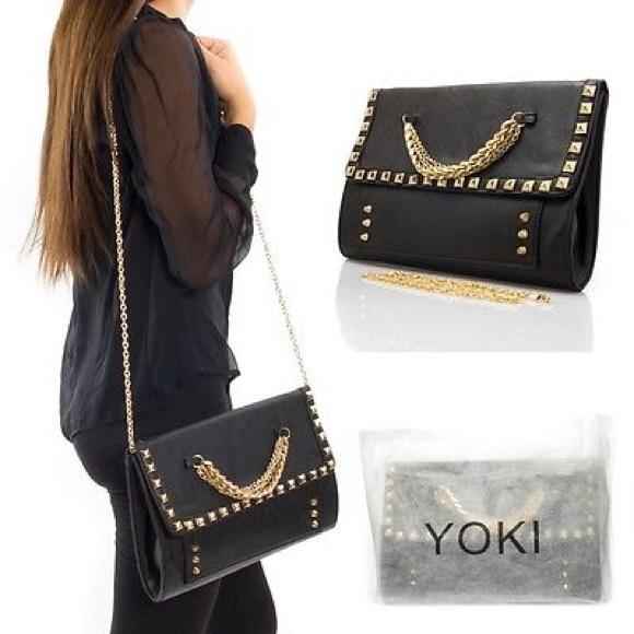 yves st laurent mens wallet - 75% off Yoki Handbags - Valentino rockstud look alike handbag ...
