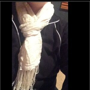 Forever 21 Cream and Gold Scarf