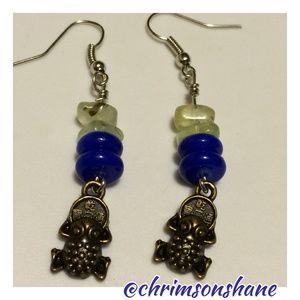 Lucky Nut Company Jewelry - 🆕 Lucky Frog Fluorite Earrings
