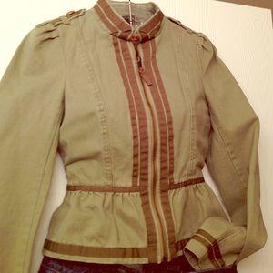 H&M green jacket size 2
