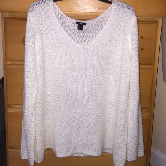 e37a3c1678 H M Sweaters - H M white open knit pullover