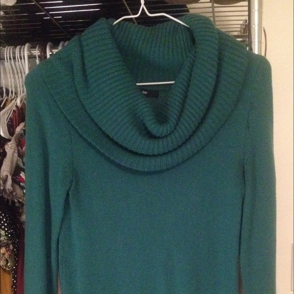 87% off GAP Sweaters - Gap Cowl Neck Sweater Forest Green XS from ...