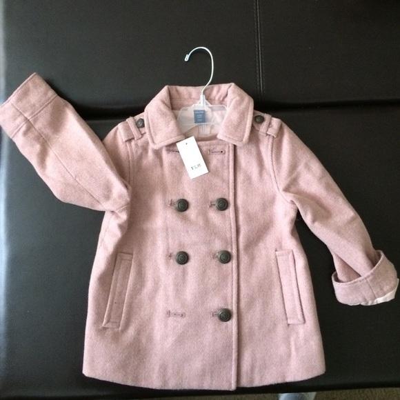 46% off GAP Outerwear - Gap/Baby Gap wool blend pea coat (pink ...
