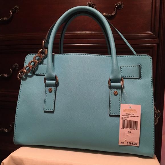 47% off Michael Kors Handbags - MK satchel bag light powder blue ...