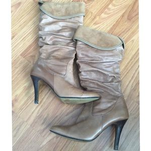 Brown leather ALDO boots