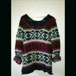 Free People Silver Reed Fairisle Sweater/ L
