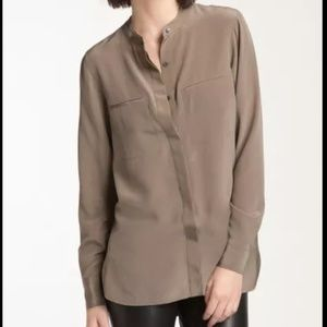 Vince Two pocket silk blouse