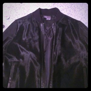 Vince, size M rabbit fur and leather bomber jacket