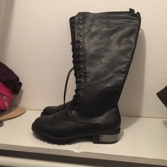 65 torrid boots black combat boots from s