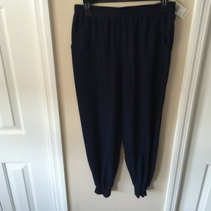 Sophie Max Pants - Sophie Max Navy Blue Estelle pants with pockets
