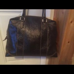 Fendi patent leather tote bag large