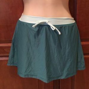 Quicksilver Leilani Black Swim Mini Skirt Cover Up