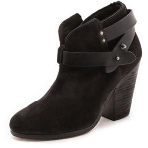 Decided to keepRag & Bone suede black booties.