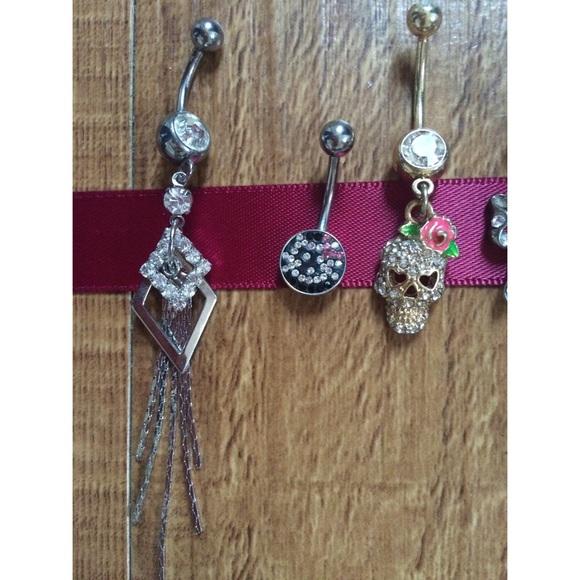 Piercing Pagoda Jewelry: Bundle Of Five Belly Rings From Sophia's