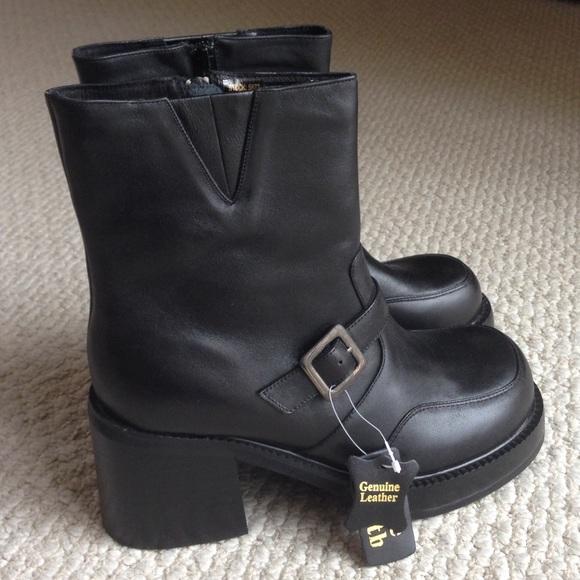 Black Leather Boots Wide Width   Poshmark