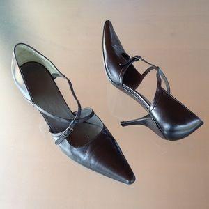 Jil Sander Shoes - Jil Sander sexy criss crossed MaryJane black pumps