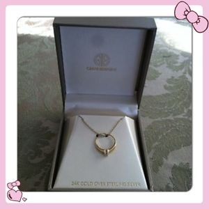 Giani Bernini Engagement Ring Pendant 18k 