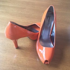 Urban Vibe by Wetseal bright orange platform heels