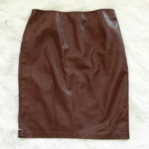 67 dresses skirts sale bn oxblood colored faux