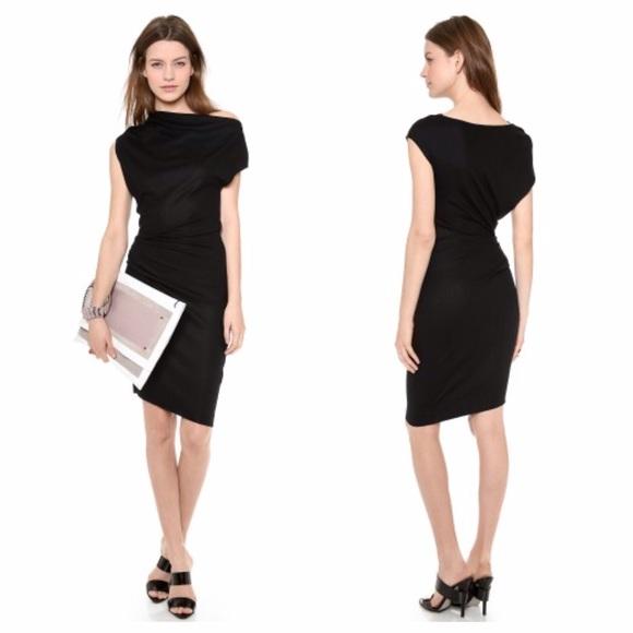 5232205e8de0e Helmut Lang Dresses   Skirts - Helmut Lang sonar wool asymmetrical dress  size M