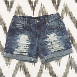 Forever 21 Distressed Boyfriend Shorts