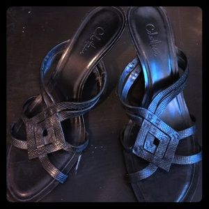 Cole haan leather sandal wedge 7.5