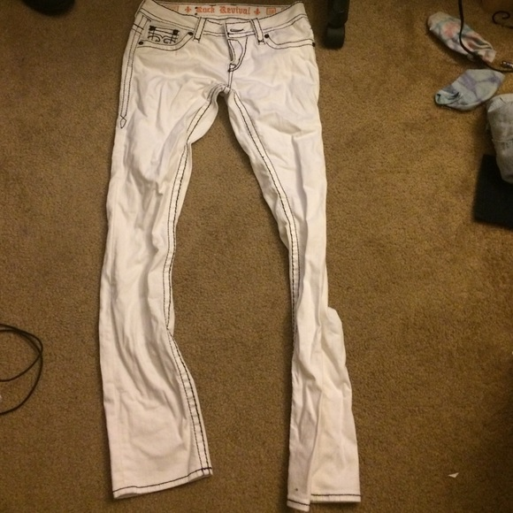 43% off Rock Revival Denim - White and black rock revival jeans ...
