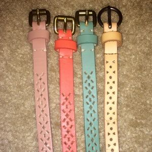 Accessories - SOLD💰4 thin leather belts