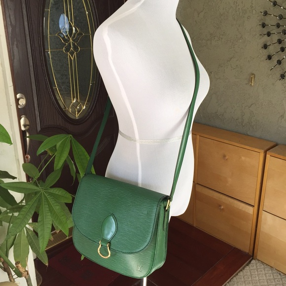 614f56400f3f Louis Vuitton Handbags - Louis Vuitton green Epi leather Saint Cloud bag