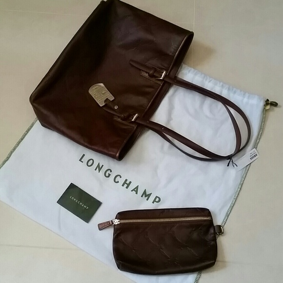 Longchamp Handbags - Longchamp leather tote bag 2ae6b1ecd7bce