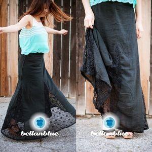 Dresses & Skirts - The PARKER lace maxi skirt - BLACk