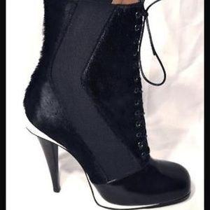 Fendi Victorian calf hair bootie