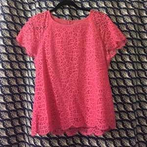 Pink jCrew lace top!