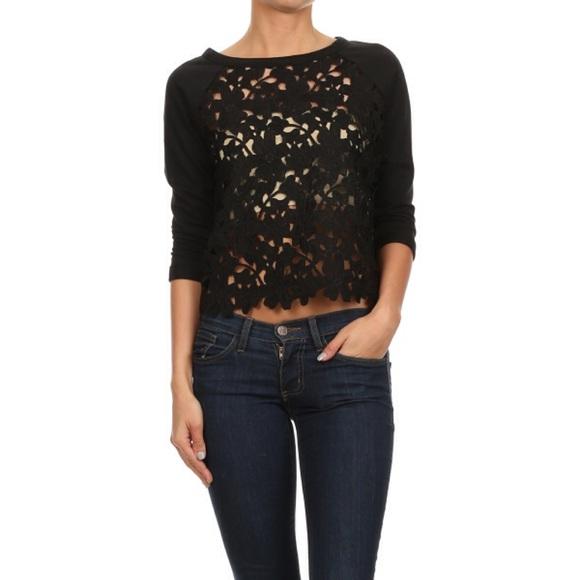 ultrachicfashion.com Tops - Crochet Crop Top