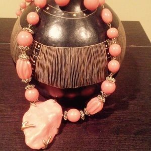 Coral Like Statement Necklace