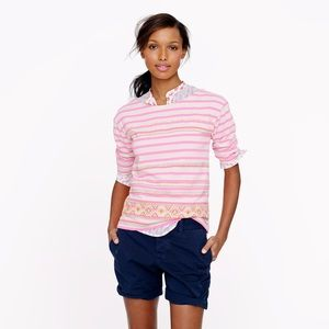 NEW J. Crew Stitchwork Stripe Top