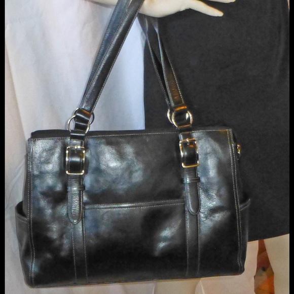 66% Off Fossil Handbags - Fossil Black Business Satchel Handbag Leather From ! Teenau0026#39;s Closet On ...