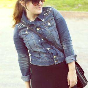 H&M Jackets & Blazers - Studded denim jacket