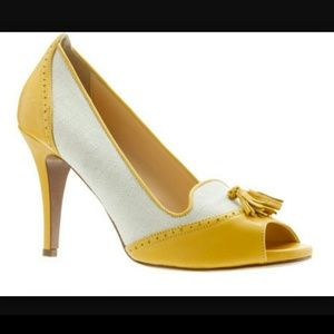 FLASH SALE!!  J.Crew chic yellow peep toe shoes