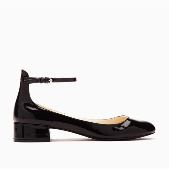 17e900076 Forever 21 Shoes - Forever 21 Faux Patent Leather Ankle Strap Flats